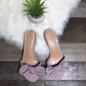 A New Day | Dusty Pink Bow Toe Slides